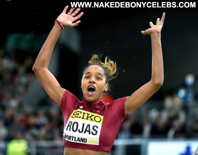 Yulimar Rojas Miscellaneous Celebrity Athletic Sexy Brunette Ebony
