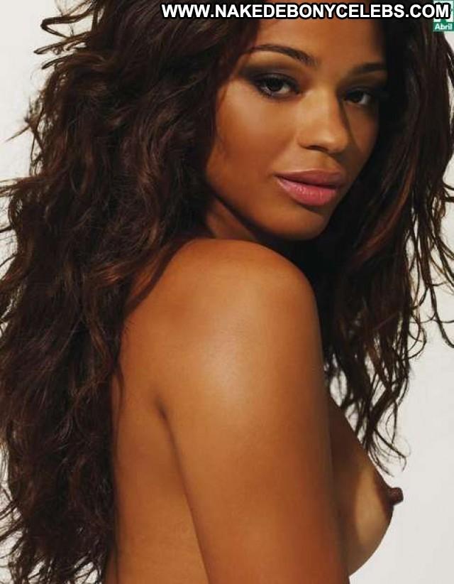 Juliana Alves Playboy Brasil Gorgeous Ebony Playmate Small Tits