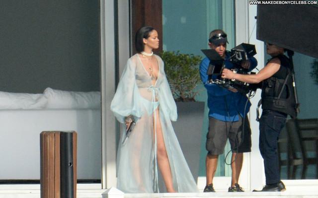 Rihanna No Source Babe Braless See Through Beautiful Celebrity Posing