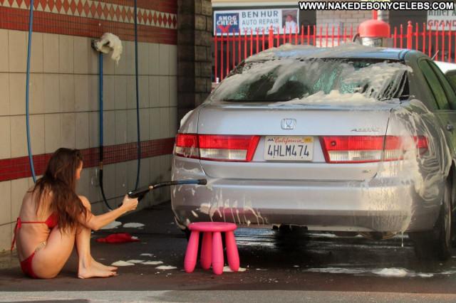 Alicia Arden No Source Bikini Car Posing Hot Celebrity Babe Beautiful