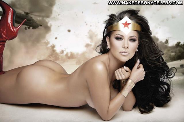 Gaby Ramirez Wonder Woman Beautiful Celebrity Body Paint Nude Posing