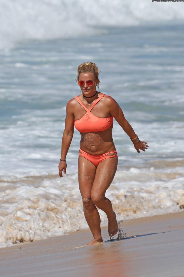 Britney Spears The Beach Paparazzi Bikini Topless Nice Singer
