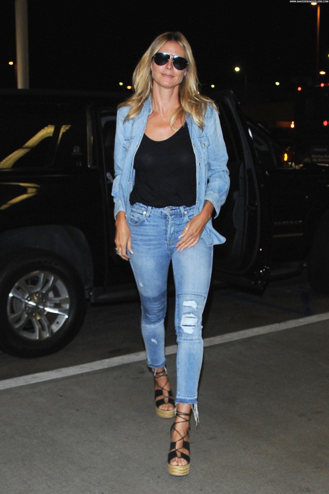 Heidi Klum See Thru Beautiful Posing Hot German Braless Black