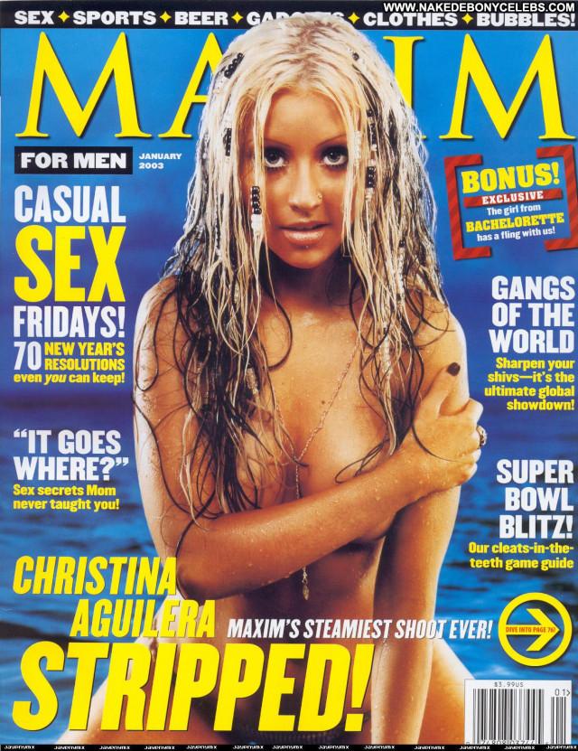 Christina Aguilera Maxim Magazine  Celebrity Topless American Posing