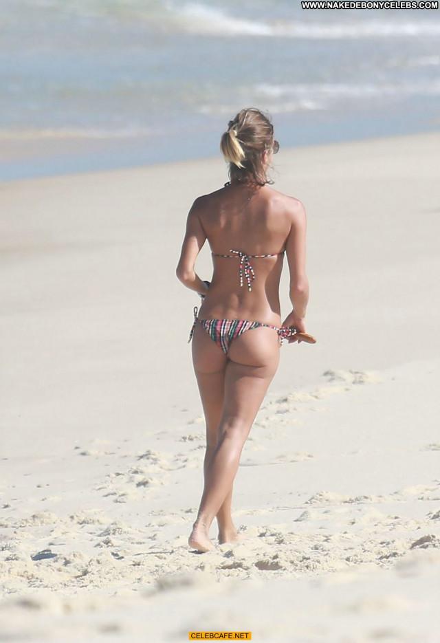 Fernanda De Freitas The Beach Beautiful Posing Hot Bar Bikini Babe