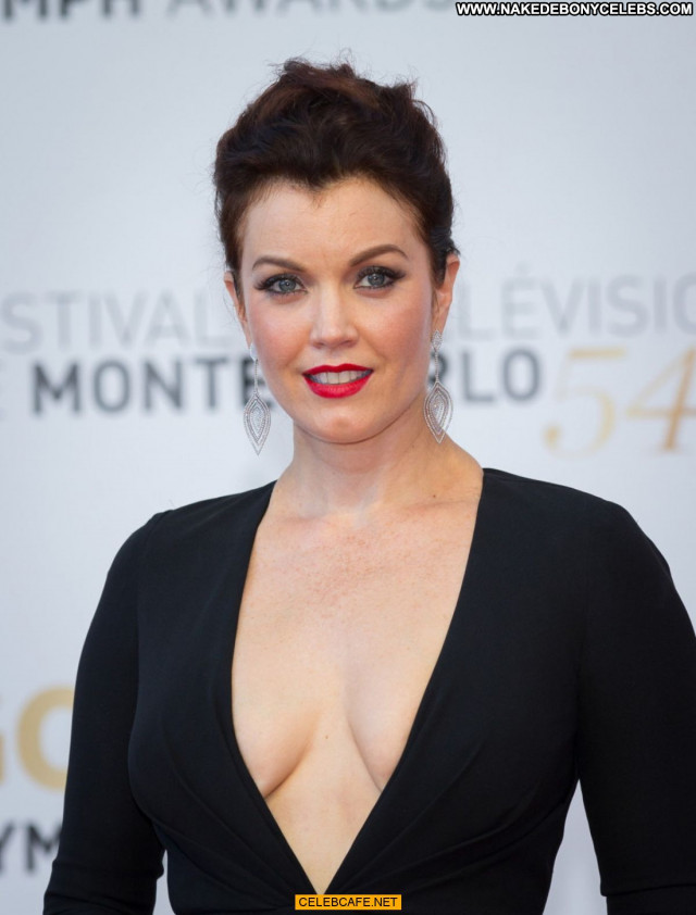 Bellamy Young Monte Carlo Posing Hot Beautiful Cleavage Celebrity