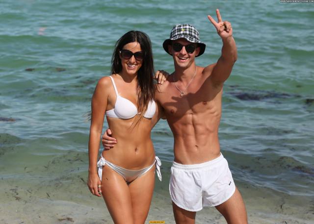Claudia Romani Miami Beach Beach Posing Hot Beautiful Babe Celebrity