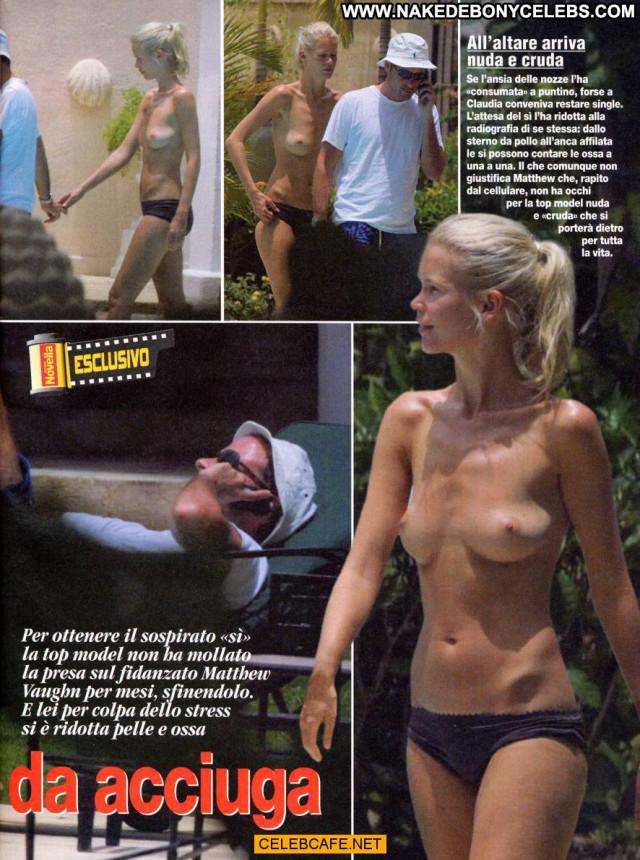 Claudia Schiffer Paparazzi Shots Pool Beautiful Babe Posing Hot