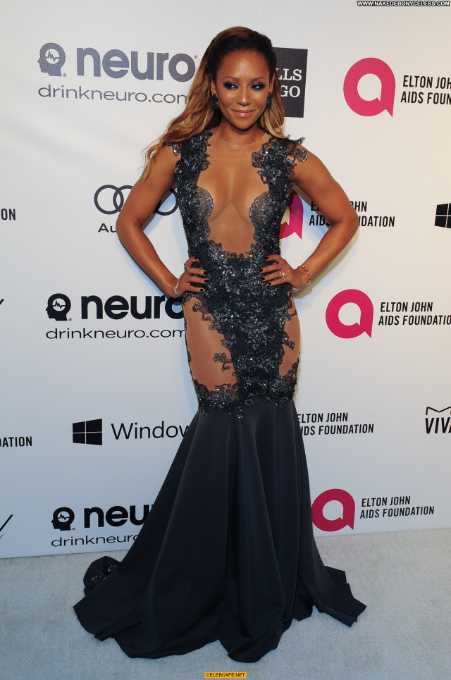 Melanie Brown No Source  Babe Beautiful Party Posing Hot Cleavage