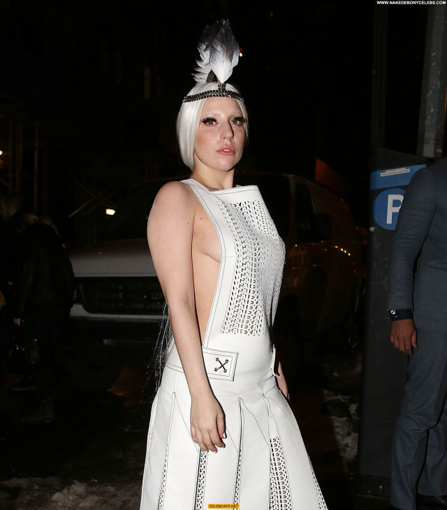 Lady Gaga No Source Babe Celebrity Beautiful Gag Toples Posing Hot