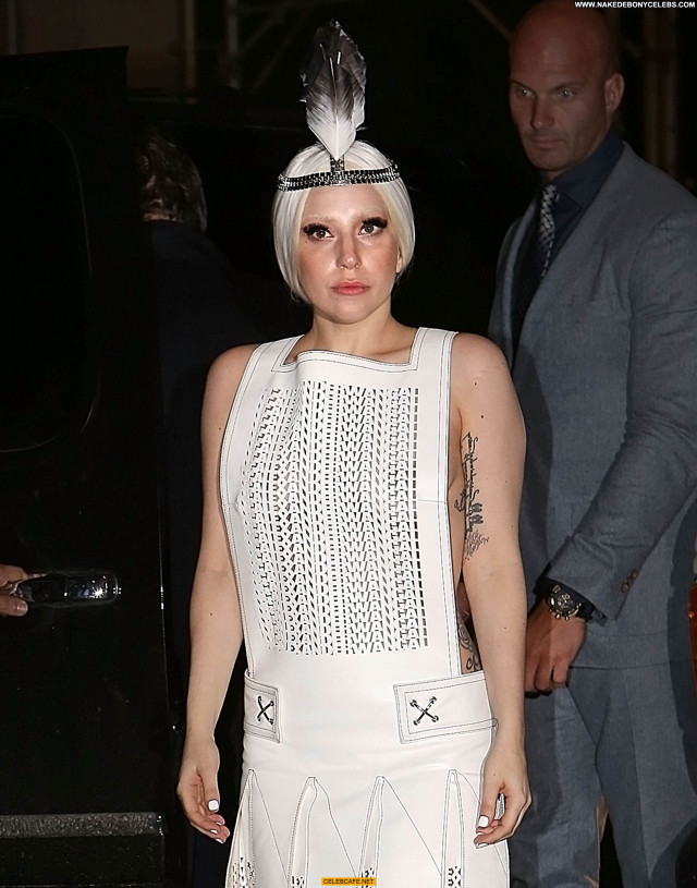 Lady Gaga No Source Fishnet Celebrity Gag Beautiful Topless Toples