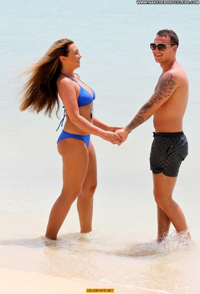 Lauren Goodger The Beach Babe Posing Hot Cleavage Beach Beautiful