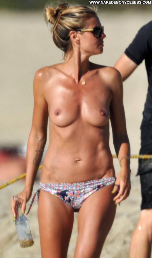 Heidi Klum Topless Beach Breasts Babe Big Tits Mom Celebrity Beach