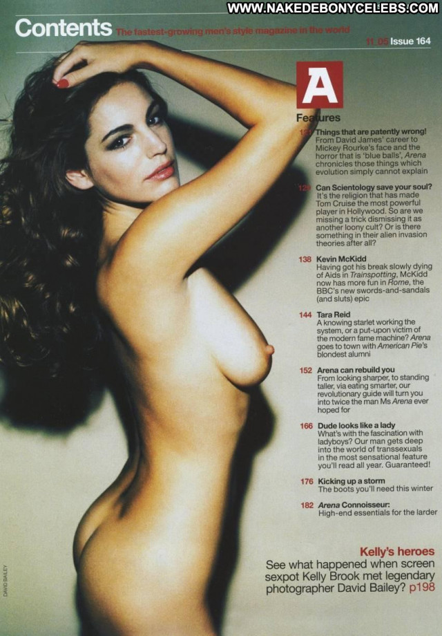 Kelly Brook Arena Magazine Beautiful Breasts Magazine British Bed