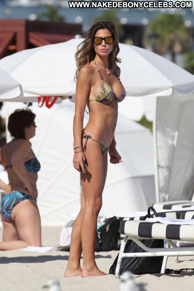 Claudia Galanti South Beach Babe Beautiful Candid Beach Bikini