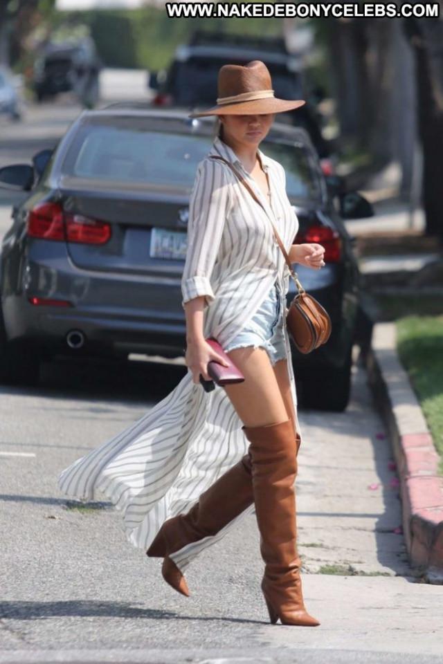 Chrissy Teigen West Hollywood Paparazzi Posing Hot Babe West