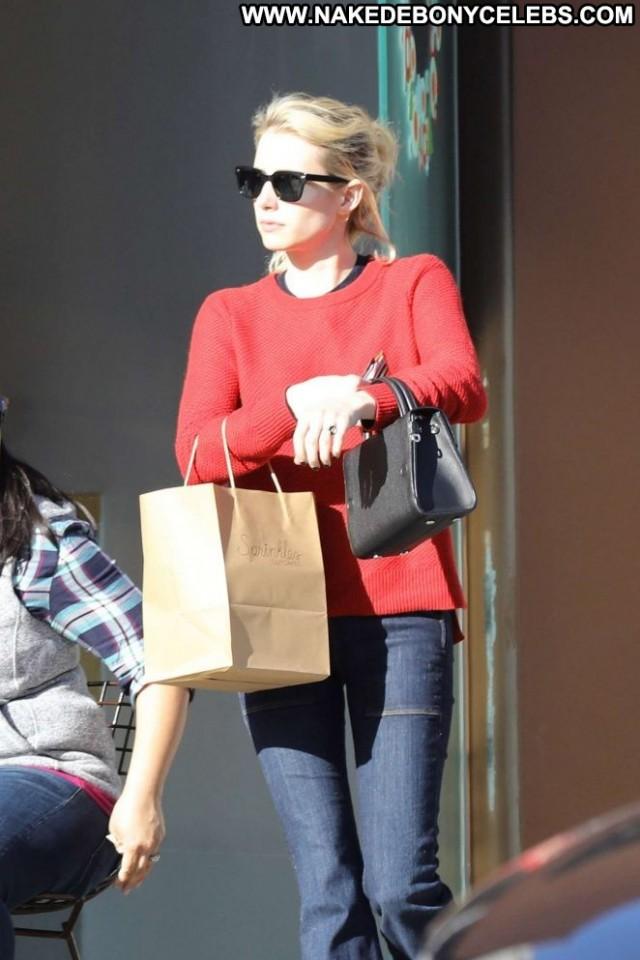 Emma Roberts Beverly Hills  Jeans Beautiful Shopping Posing Hot
