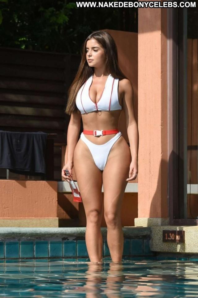 Demi Rose The Pool Babe Bikini Pool Beautiful Paparazzi Posing Hot