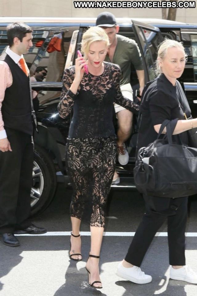 Charlize Thero New York Beautiful Posing Hot Celebrity Hotel Babe